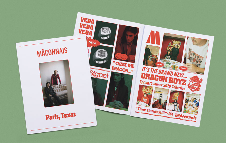Mâconnais SS2020 Lookbook newspaper. Printed by Newspaper Club.