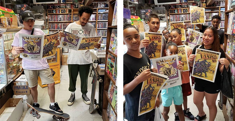 How Burn & Broad created an action-packed comic for Dreamville newspaper