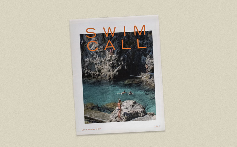 Swim Call newspaper by John Peabody