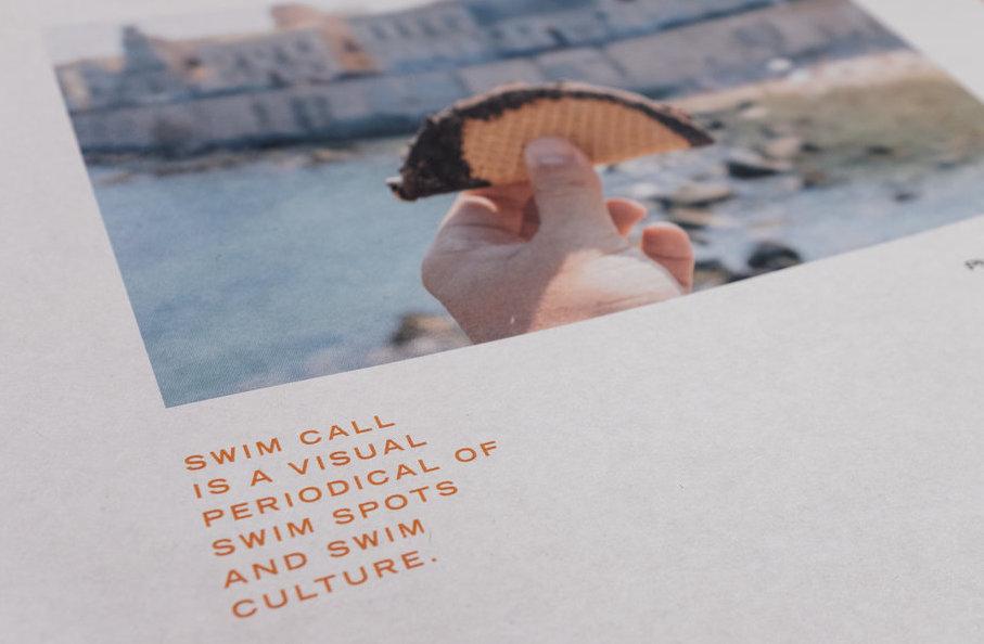 Swim Call newspaper by John Peabody