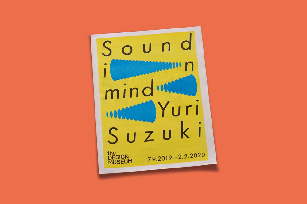 Tabloid newspaper for Sound in Mind by Yuri Suzuki at the Design Museum, London. See more newspapers we loved this month in our latest print roundup.
