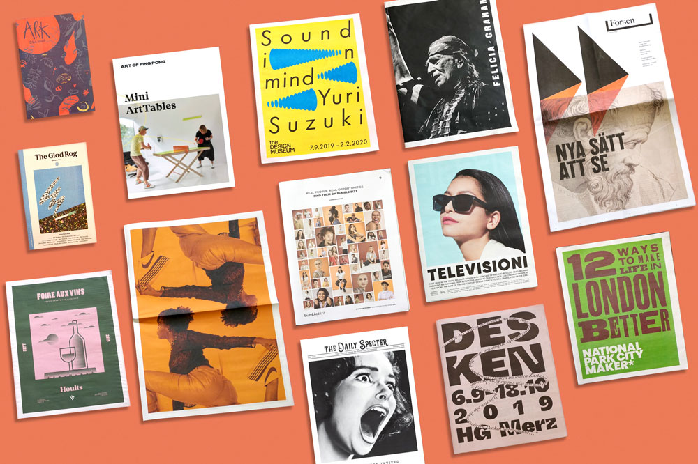 Print Roundup: October. 13 newspapers we loved this month. Print your own newspaper with Newspaper Club
