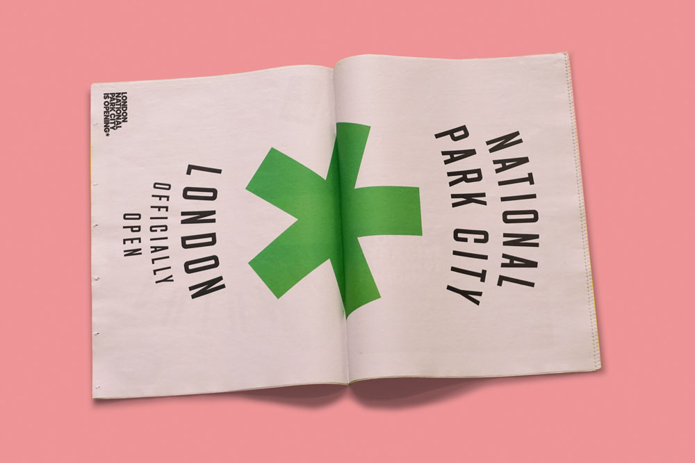 Tabloid newspaper for London National Park City. See more newspapers we loved this month in our latest print roundup.