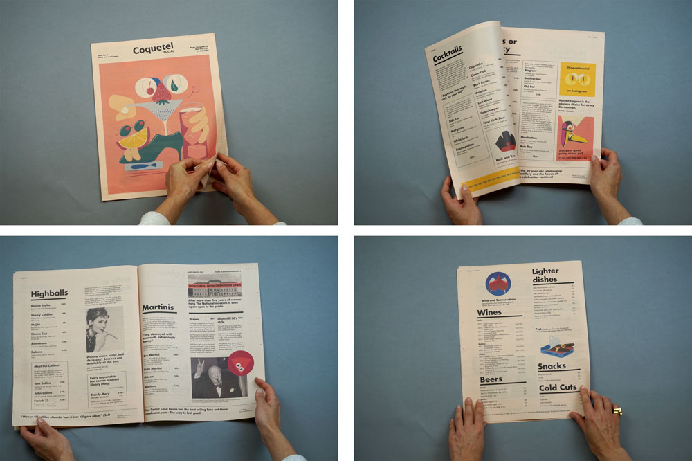 Coquetel tabloid, one of 19 Newspapers We Loved in 2019 — A Print Roundup from Newspaper Club