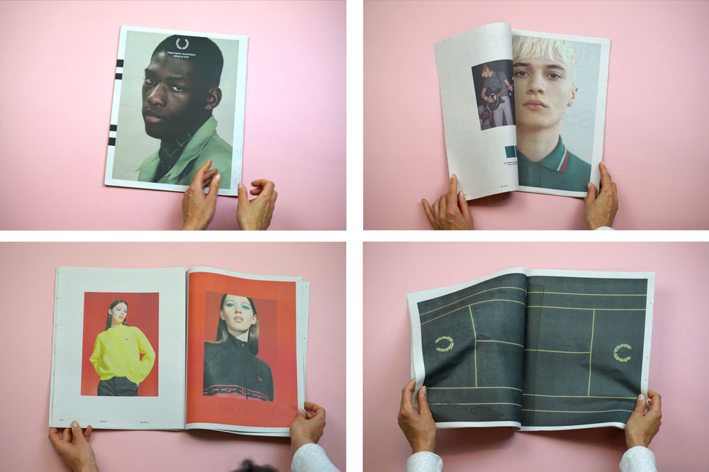 Fred Perry tabloid catalogue, one of 19 Newspapers We Loved in 2019 — A Print Roundup from Newspaper Club