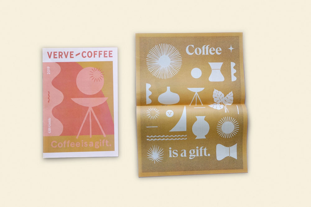 Verve Coffee newspaper printed by Newspaper Club