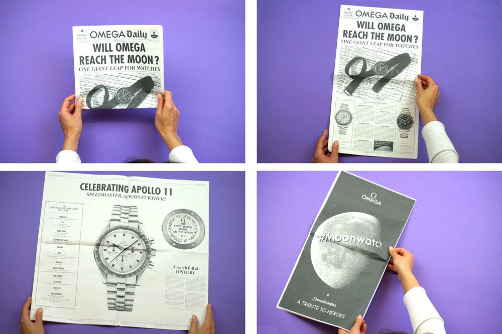 Omega Watches broadsheet, one of 19 Newspapers We Loved in 2019 — A Print Roundup from Newspaper Club