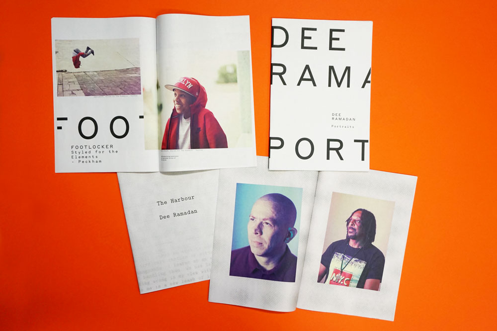 A portable portrait portfolio by photographer Dee Ramadan, printed as a mini newspaper by Newspaper Club
