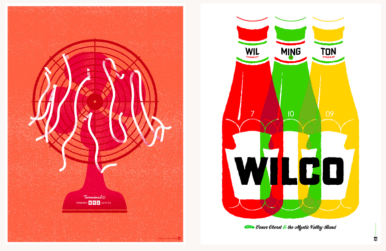 Concert posters for Wilco designed by The Heads of State