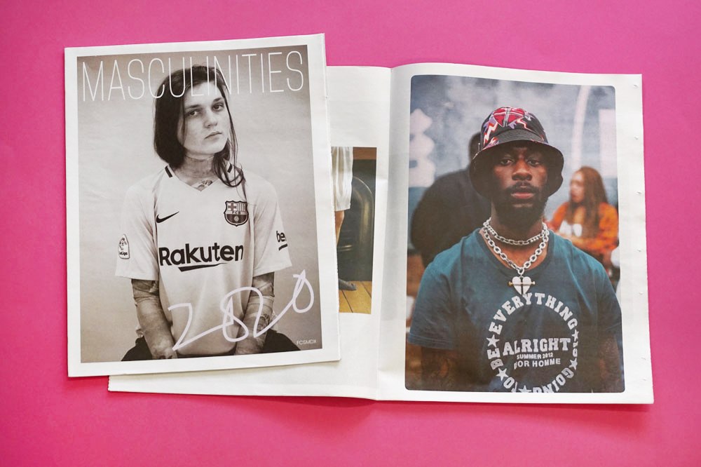 Masculinites newspaper for BA Hons Fashion Communication and Styling, Middlesex University