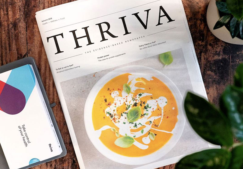 Newspaper for Thriva, maker of at-home blood tests