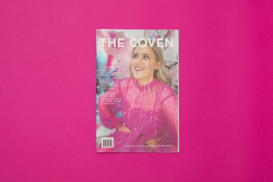 Mini newspaper The Coven designed by Sapphire Bates