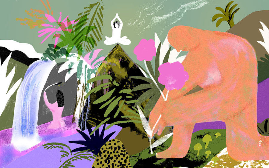 Illustration by Lucy Sherston for Quartz