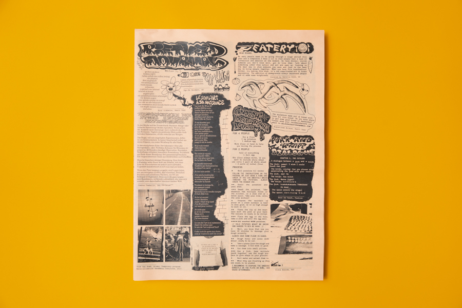 Rietveld Journal broadsheet newspaper printed by Newspaper Club.