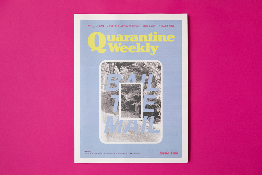 Cover of Quarantine Weekly newspaper printed by Newspaper Club.