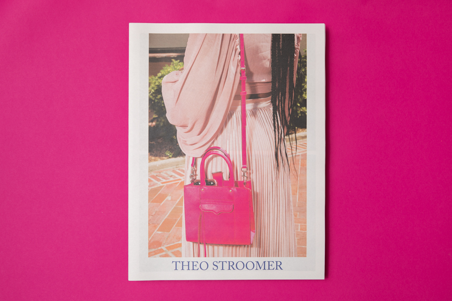 Cover of Theo Stroomer photography portfolio printed by Newspaper Club.