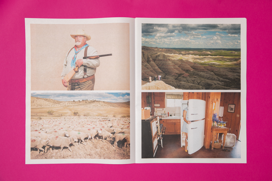 Spread from Theo Stroomer photography portfolio printed by Newspaper Club.