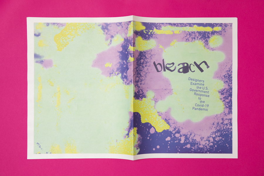 Bleach newspaper, a collection of work by designers responding to COVID-19, printed by Newspaper Club.
