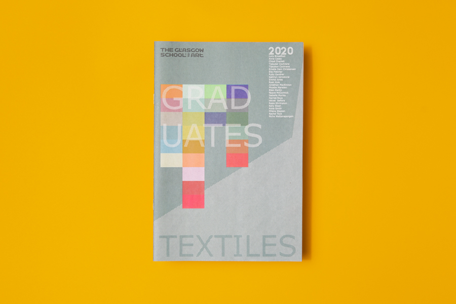 Glasgow School of Art Textile Design catalogue. Printed by Newspaper Club.