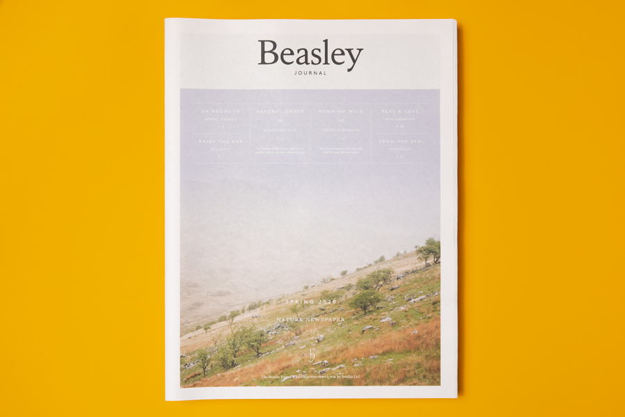 Cover of Beasley, a newspaper for drinks company Seedlip. Printed as a tabloid by Newspaper Club.