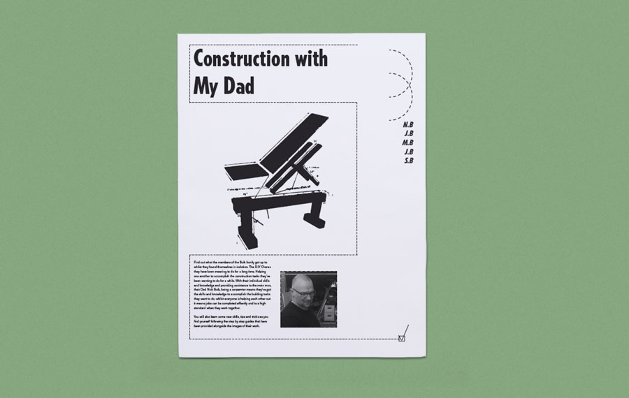 Construction with my Dad newspaper by Samuel Boik. Printed by Newspaper Club.