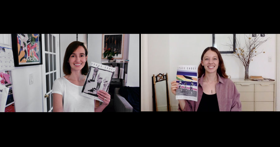 Robin and Natalia, editors of Space Cadet, on Zoom