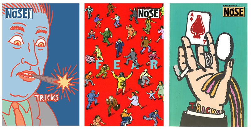 Covers of Seymour Chwast magazine The Nose