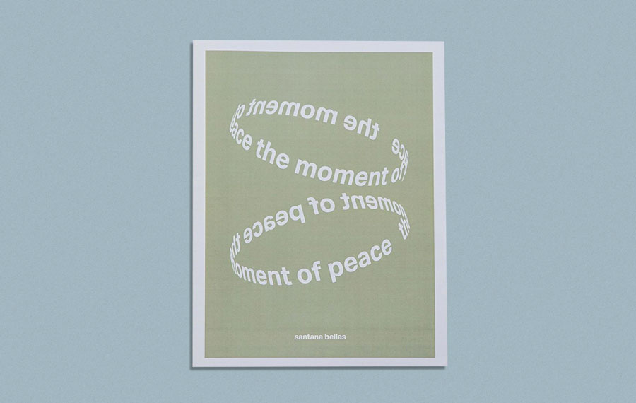 """The Moment of Peace"" is a 16-page photozine collection of ""calming and tranquil imagery"". Printed as a tabloid by Newspaper Club."