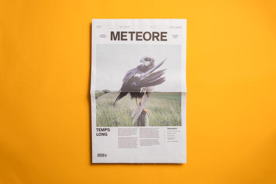 "Made in collaboration with photo agency Lundi 13, Meteore is a large-format photo journal based on a ""slow journalism"" approach. Printed as a broadsheet by Newspaper Club."