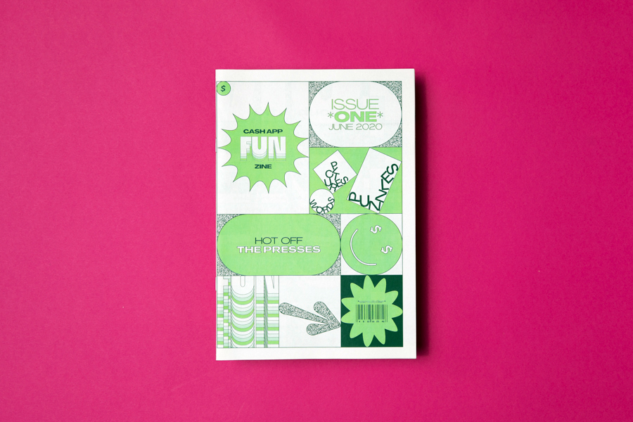 Cash App, a mobile payment service developed by Square, printed this limited-edition Fun Zine as a digital mini printed by Newspaper Club