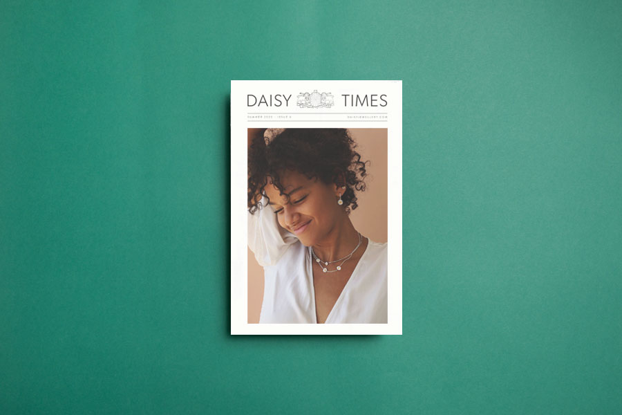 When customers share a new purchase from London-based Daisy Jewellery, they make sure to include the latest edition of the brand's newspaper, The Daisy Times, in the shot. A simple touch that reinforces Daisy's branding and delights their customers.