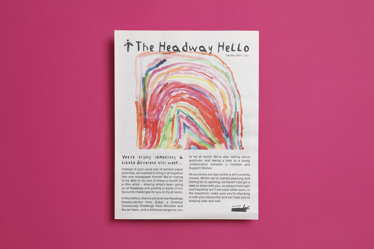 Headway East London is a charity supporting people affected by brain injury across 13 London boroughs. The Headway Hello newspaper printed by Newspaper Club.