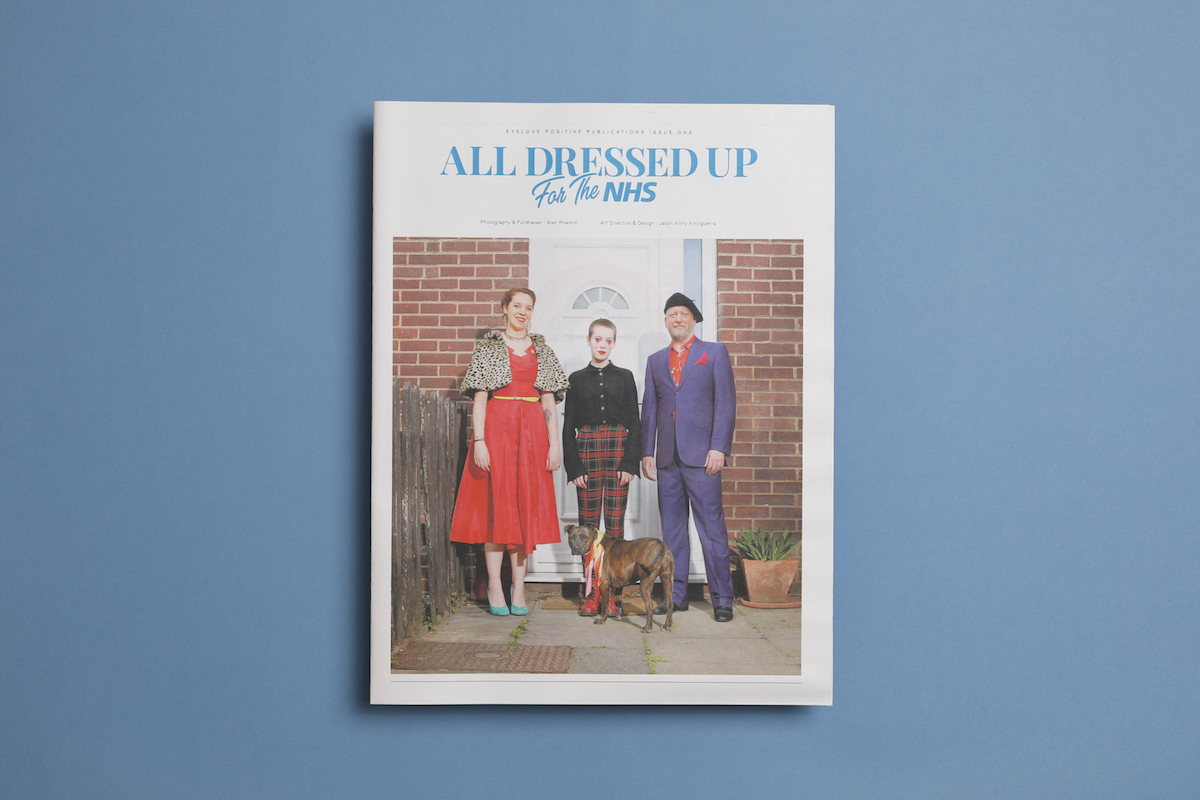 "Photographer Alan Powdrill documented Londoners in their Sunday best for ""'All Dressed Up for the NHS,"" a series of doorstep portraits that illustrate the humour and resilience of the nation in lockdown. Printed by Newspaper Club."