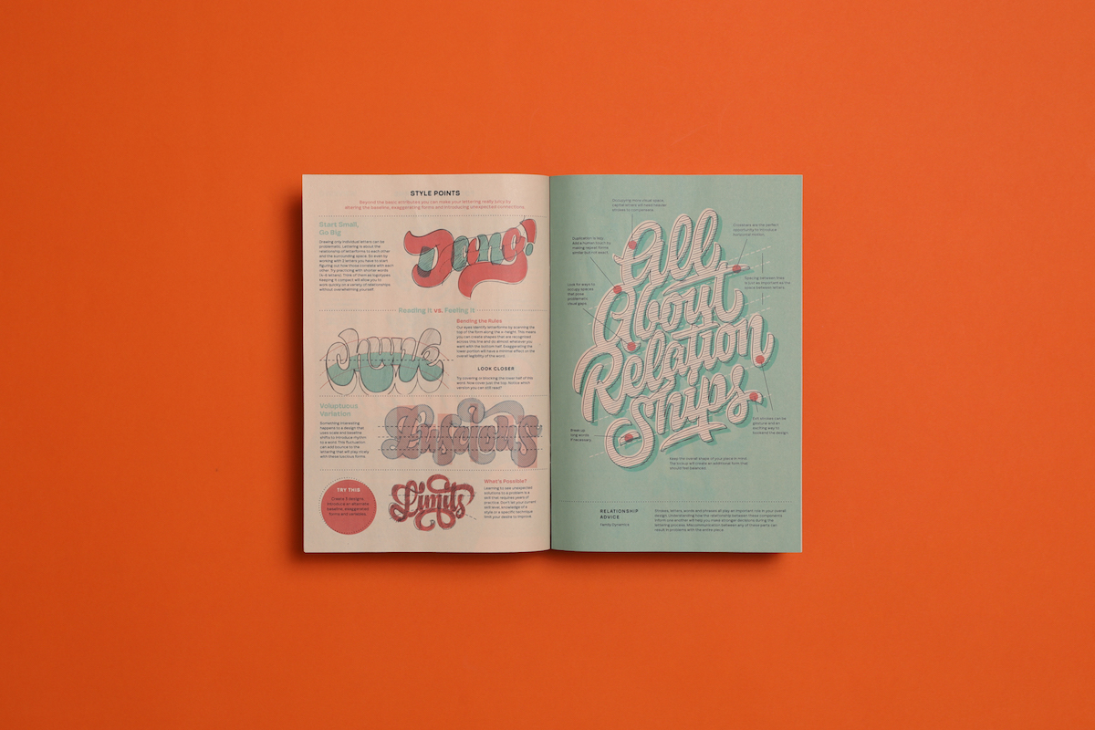 Typographer Mark Caneso's lettering guide, printed as a mini newspaper with Newspaper Club