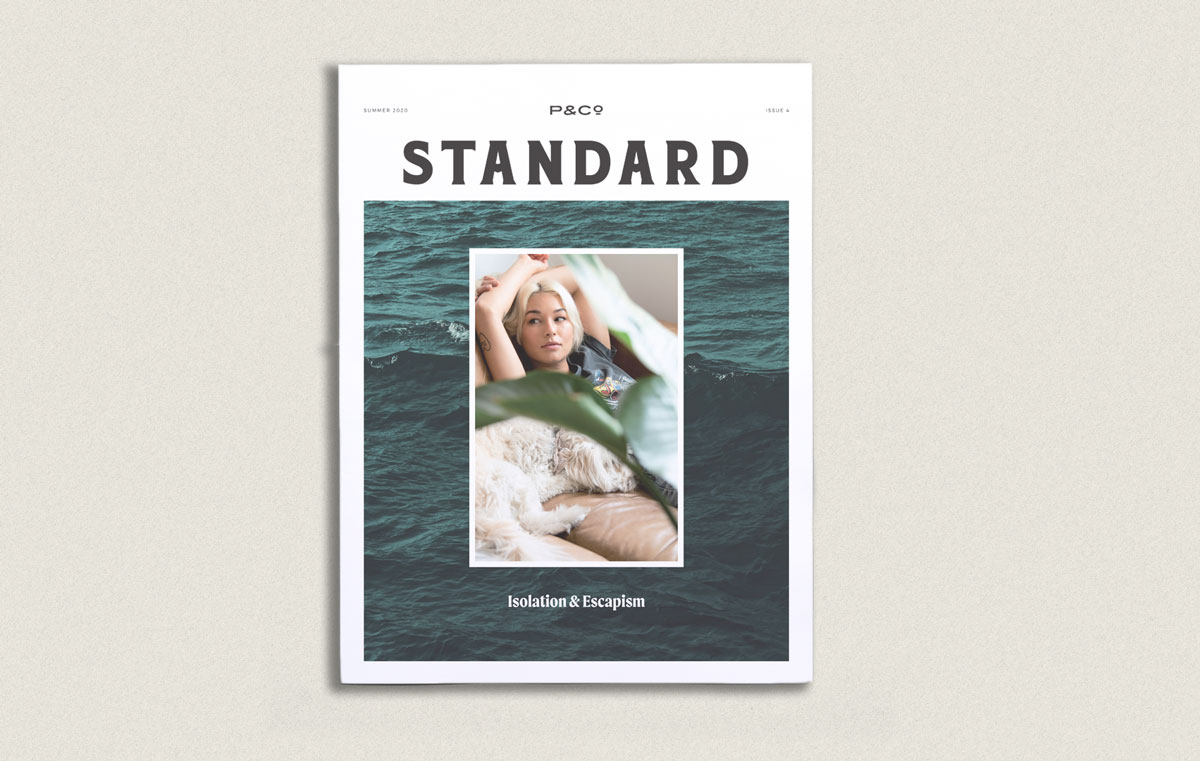 Lifestyle brand P&Co interviews the creatives they collaborate with and publishes behind-the-scenes photography in their quarterly tabloid, The Standard.