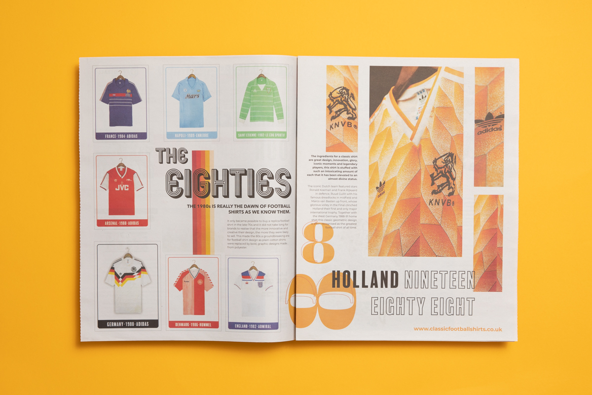 Classic Football Shirts newsprint catalogue. Printed by Newspaper Club.