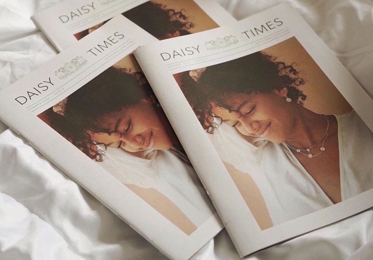 Daisy Jewellery newspaper printed by Newspaper Club