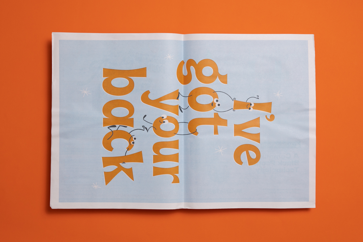 Zine from Help Scout, printed by Newspaper Club
