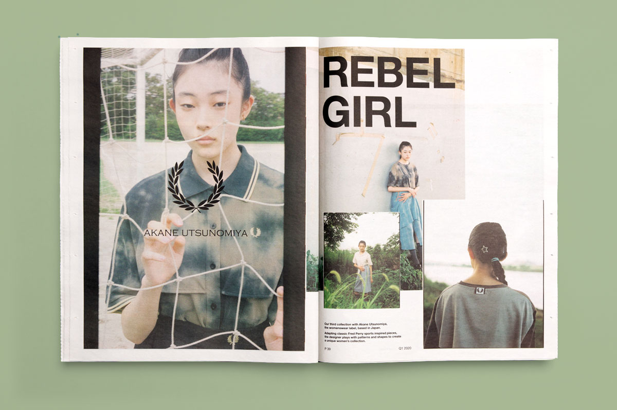 Fred Perry catalogue designed by Studio Small and printed by Newspaper Club