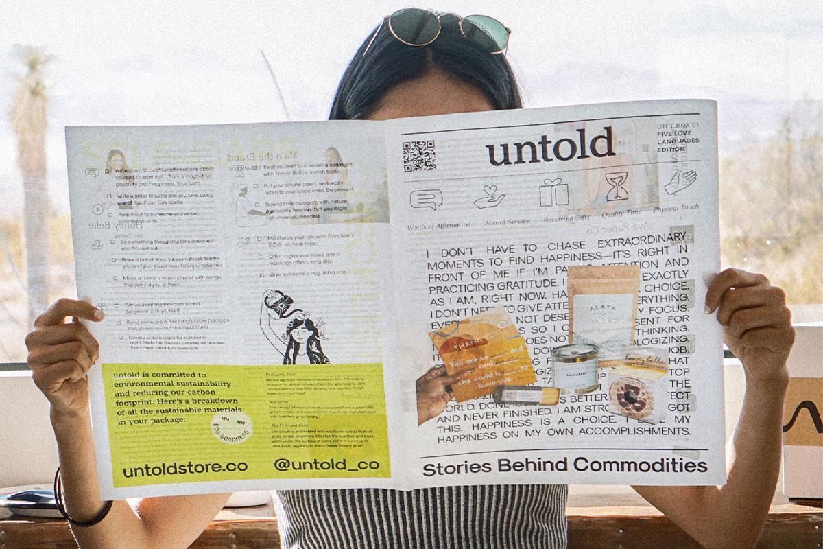Untold newspaper printed by Newspaper Club