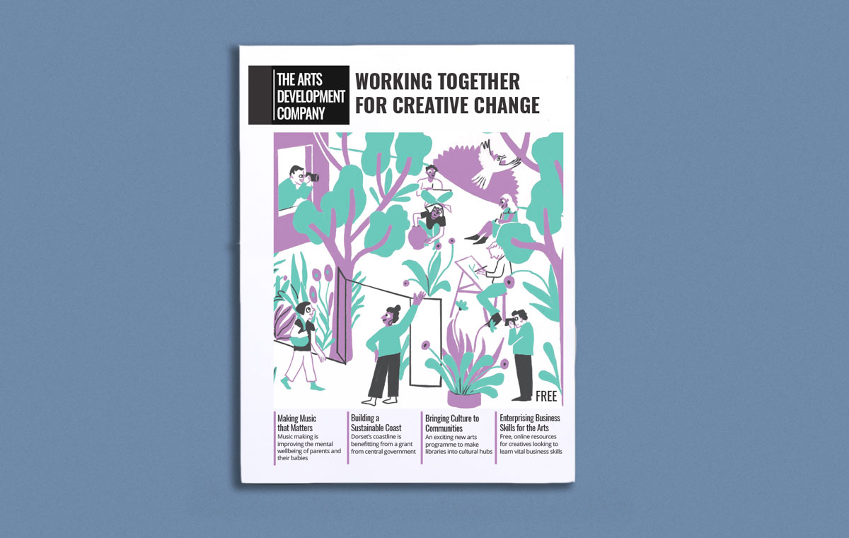 The Arts Development Company annual report printed by Newspaper Club