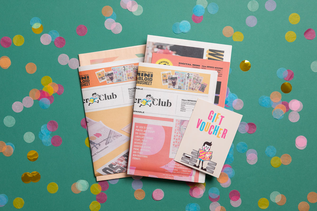 Newspaper Club gift voucher to print your own newspaper