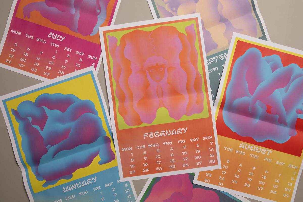 2021 Calendar posters illustrated by Oliwia Bober. Printed by Newspaper Club.
