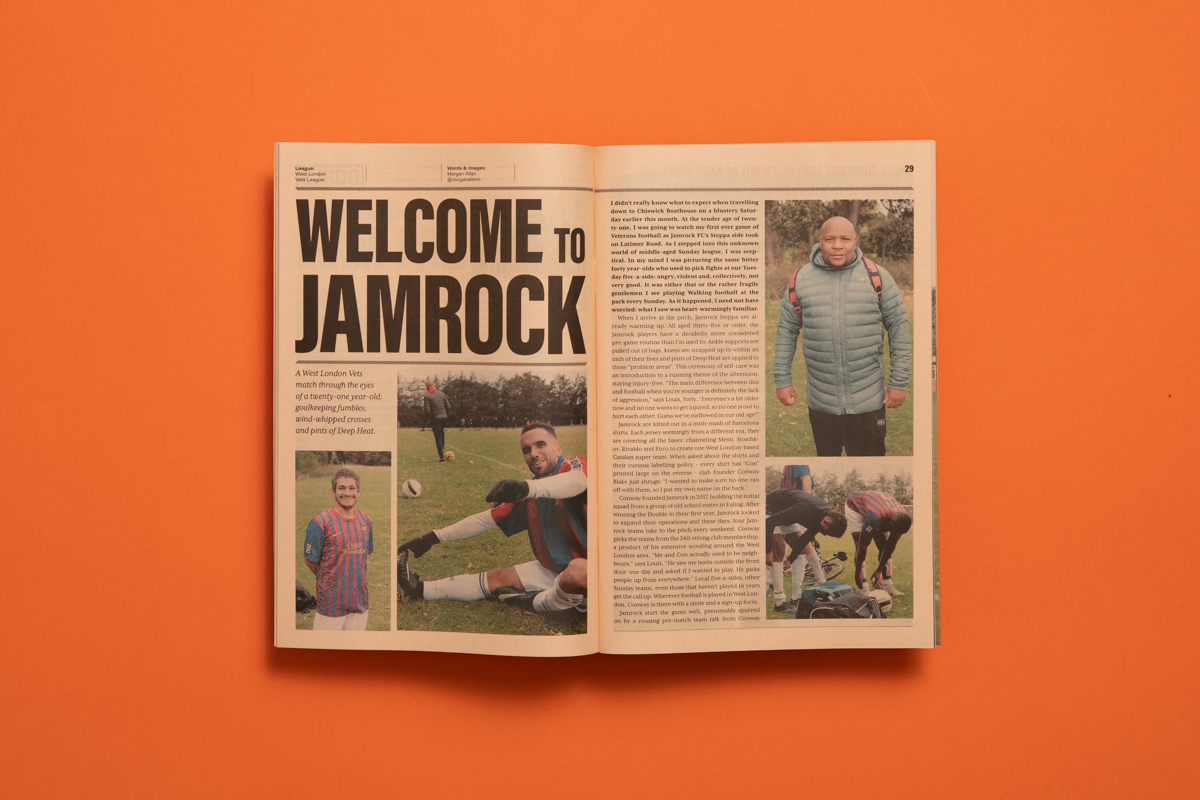The Grassroots Post amateur football zine. Printed by Newspaper Club.