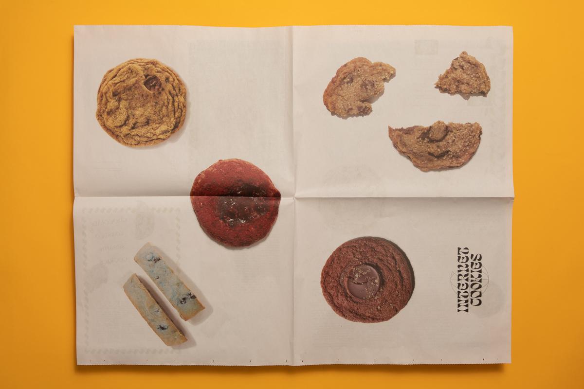 Internet Cookies broadsheet by Gaia Valdemarsdóttir and Elise Wilken. Printed by Newspaper Club.