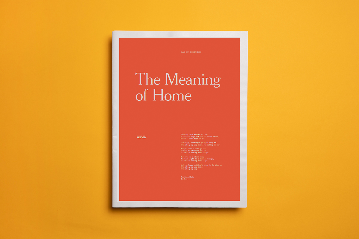 The Meaning of Home lockdown photography zine