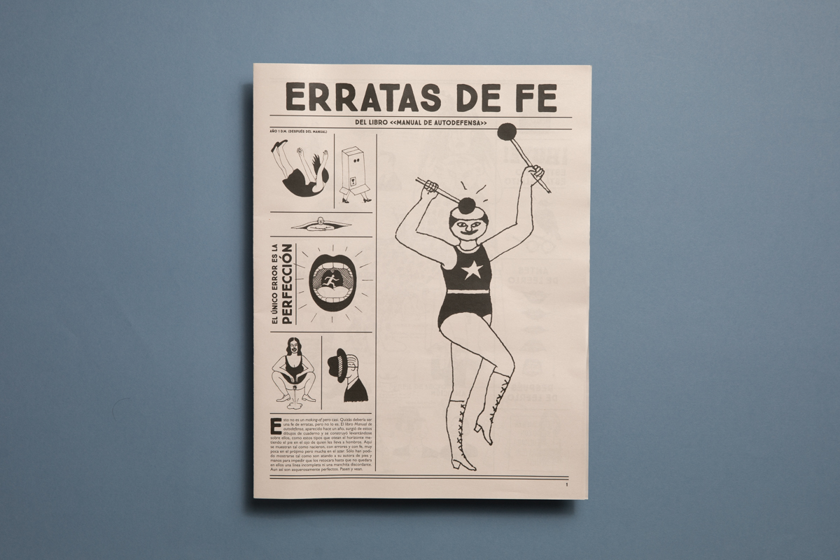 Erratas de Fe illustrated newspaper by Luci Gutiérrez. Printed by Newspaper Club.