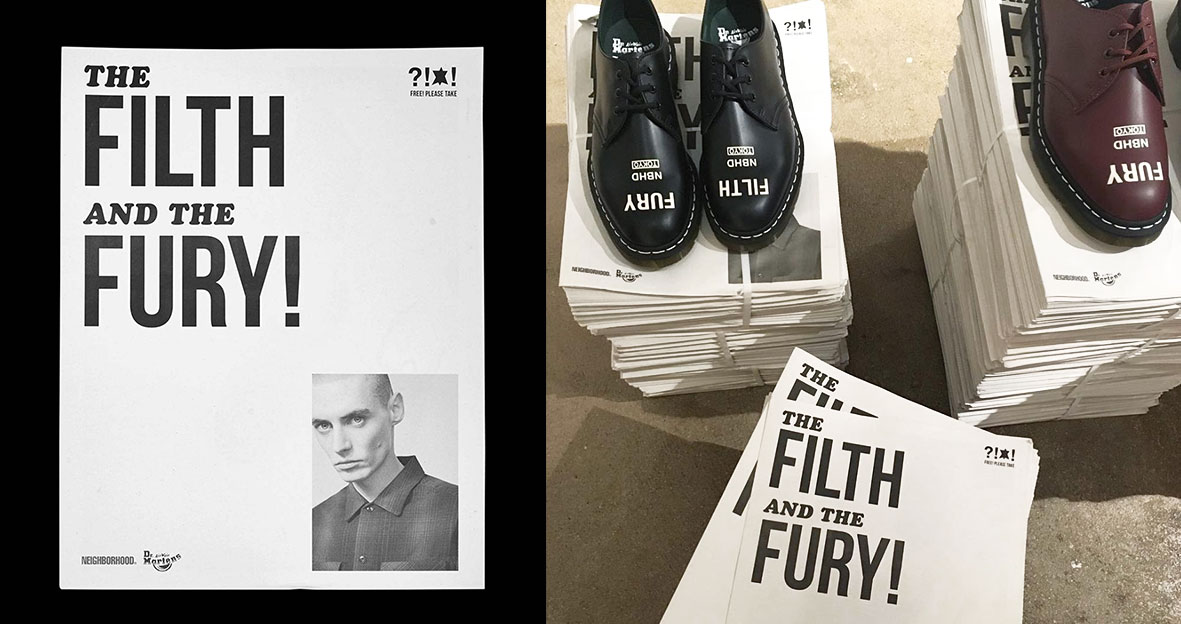 The Filth and the Fury! Dr. Martens x GoodHood newspaper. Printed by Newspaper Club.