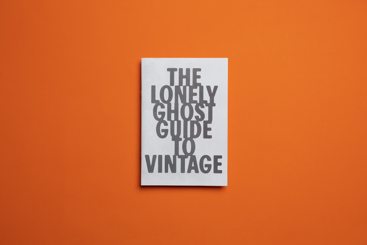 Lonely Ghost Guide to Vintage zine. Printed by Newspaper Club.