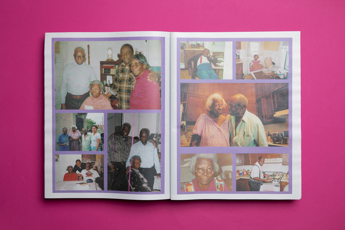 ULTRA ULTRA Vol. 1 celebrates the legacy of Mamie and John Weaver, their family, friends and neighbours in Belmont West Philly through archival images, personal snapshots and exhibition documentation. Created by artist Charles Hall. Printed by Newspaper Club.